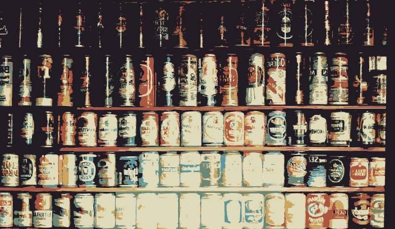 Muro de cervezas
